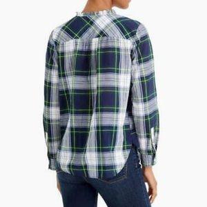 J. Crew plaid popover blouse size 2